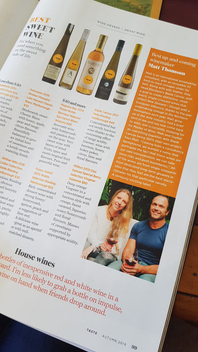 Blank Canvas named Best Up and Coming Wine Producer by Taste Magazine