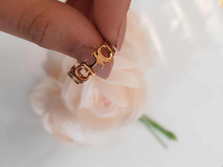 Rose gold luxury  ring for Woman stainless steel
