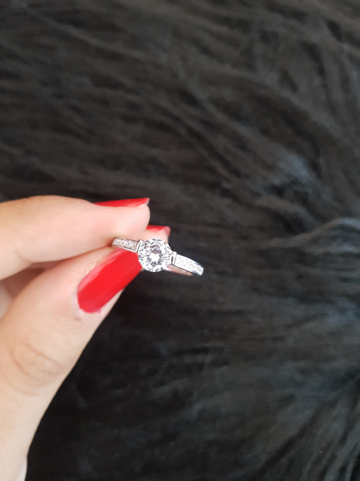 Silver ring for Woman stainless steel