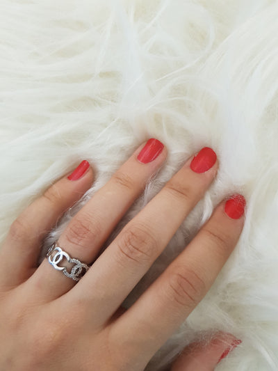 New Fashion Silver Ring for Woman stainless steel