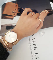 Rose gold Arabic numbers high quality watches