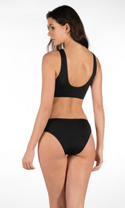 Stylish Swimsuit 2 pieces Black color