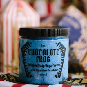 Hot chocolate frog shower scrub