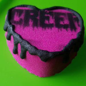 Creep Bath Bomb, Apple and Blackberry with Juniper cocoa butter frosting
