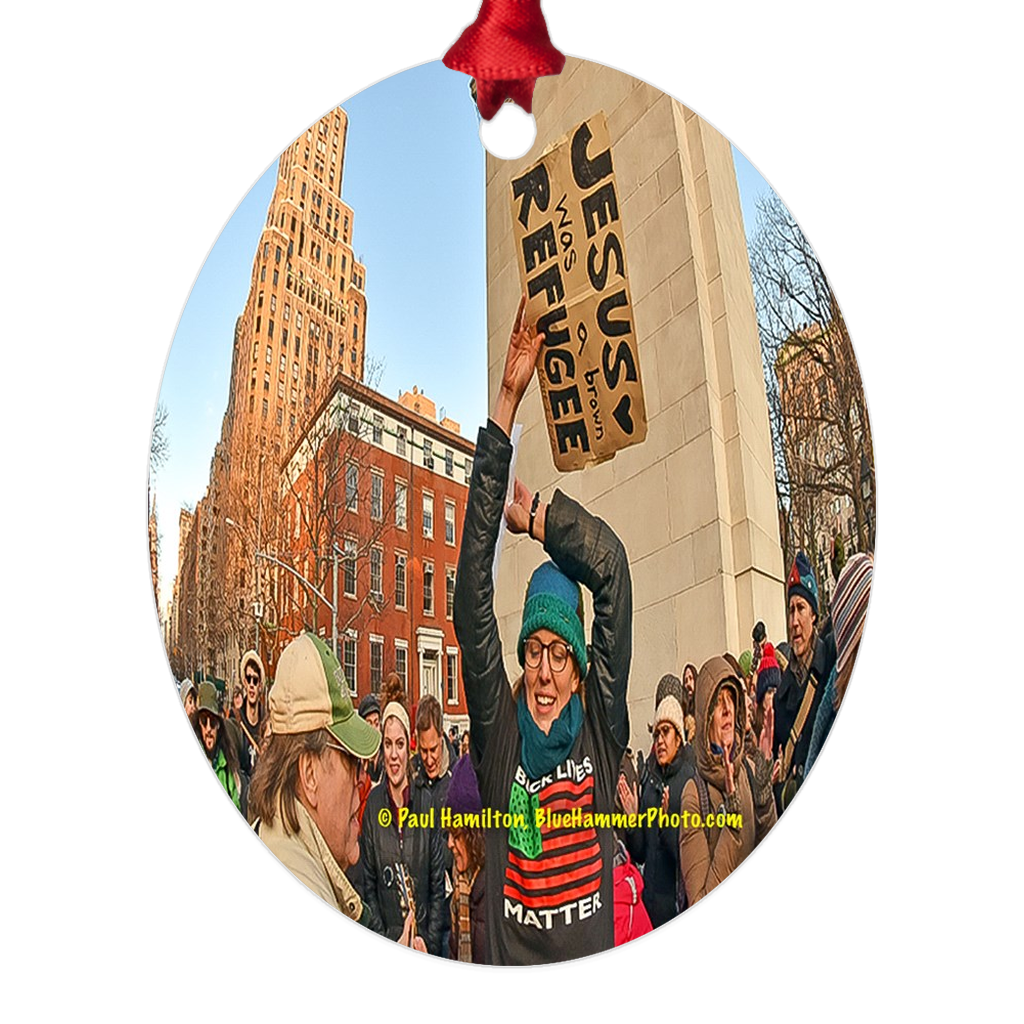 "tree ornament (4"" x 5"")-- Washington Square Park, 2017"