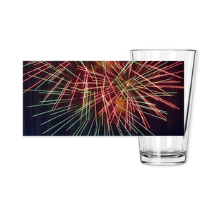 Pint Glasses-- fireworks 9953