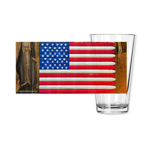 Pint Glasses-- barn flag