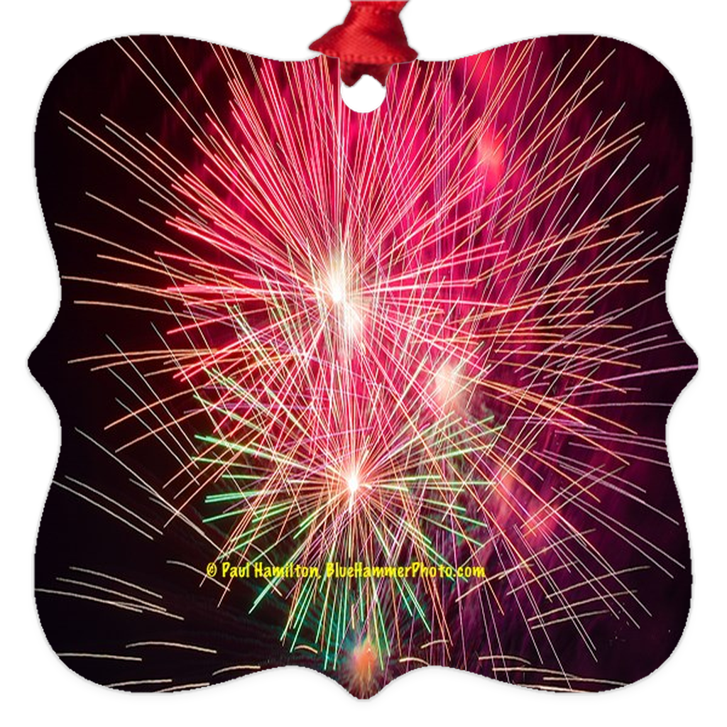 "tree ornament (2 x 2"")-- fireworks 055"
