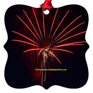 "tree ornament (2 x 2"")-- fireworks 9958"
