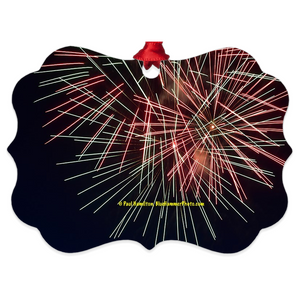 "tree ornament (4"" x 3"")- fireworks 9953"