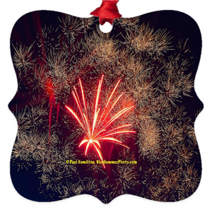 "tree ornaments (2 x 2"")-- fireworks 9890"