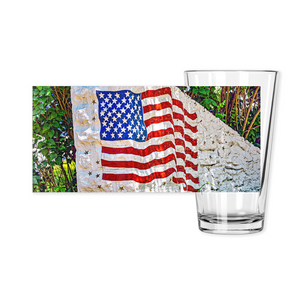 Pint Glasses-- stone flag