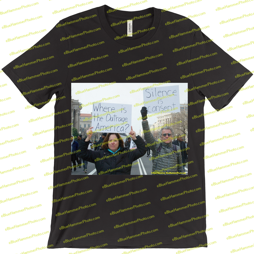 T-Shirts-- I can't breathe (silence is consent)