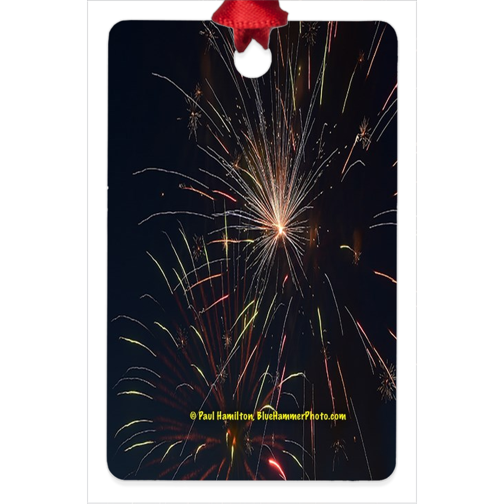 "tree ornament (2 1/4 x 3 1/4"")-- fireworks 33"