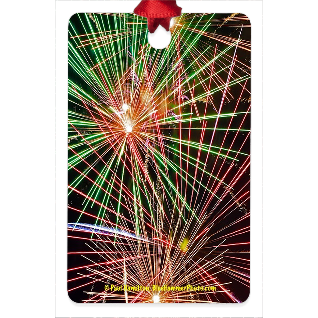 "tree ornament (2 1/4 x 3 1/4"")-- fireworks 041"
