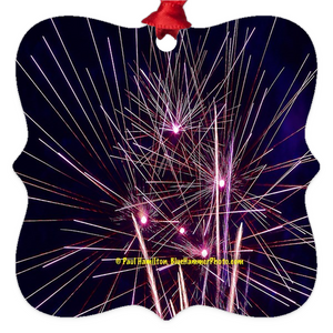 "tree ornaments (2 x 2"")-- fireworks 103 A&B"