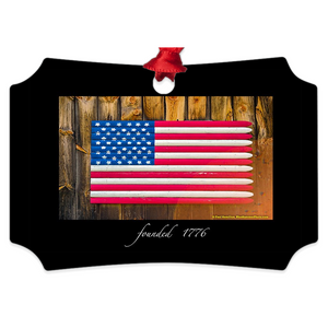 "tree ornament (4"" x 3"")-- founded 1776"