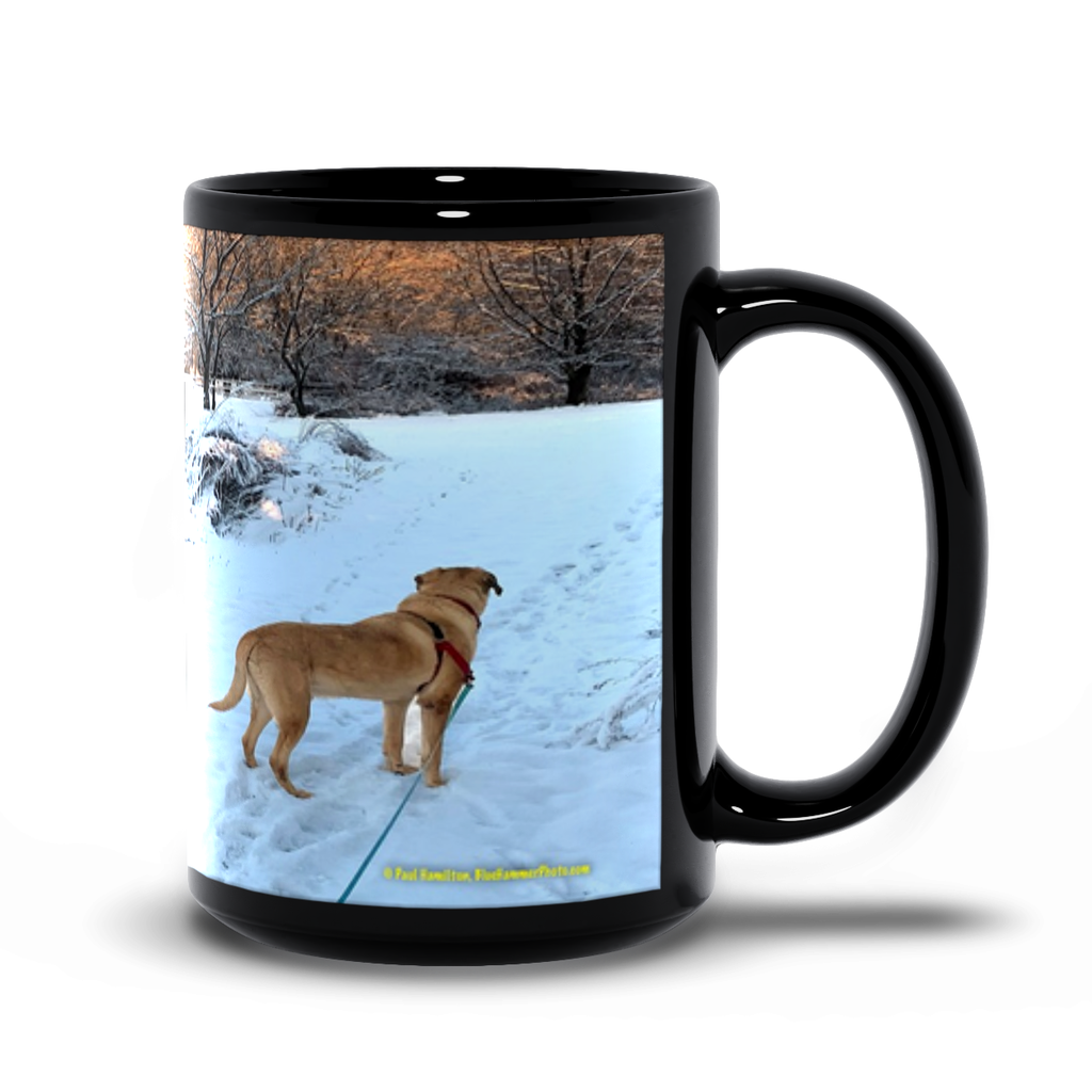 15oz black mug— Long Valley, Patriots Path
