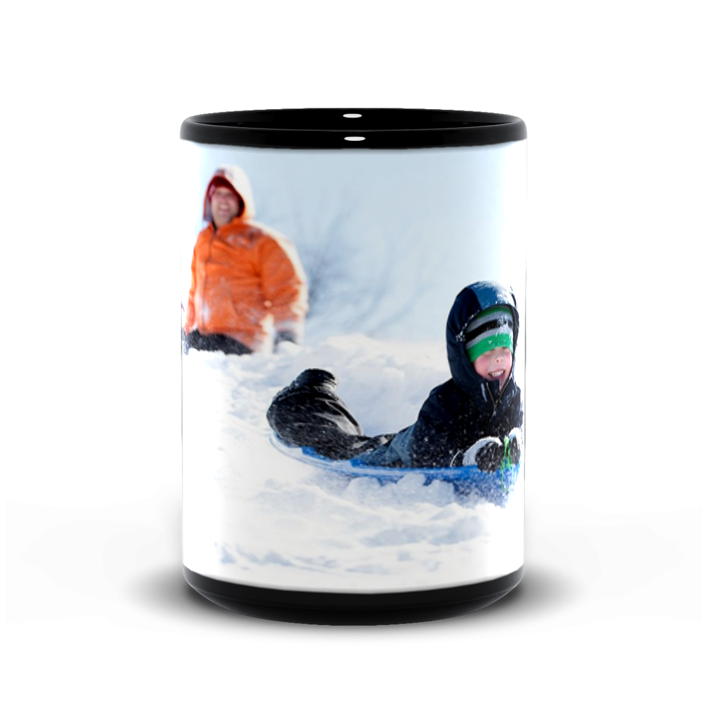 15oz black mug— sledding