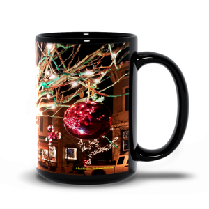 15oz black mug— Clinton lights