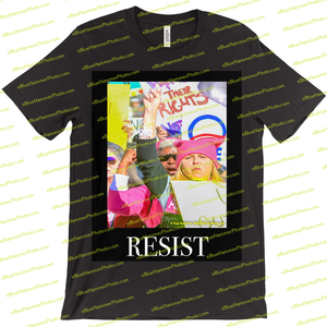 T-Shirts-- women's march  (resist)