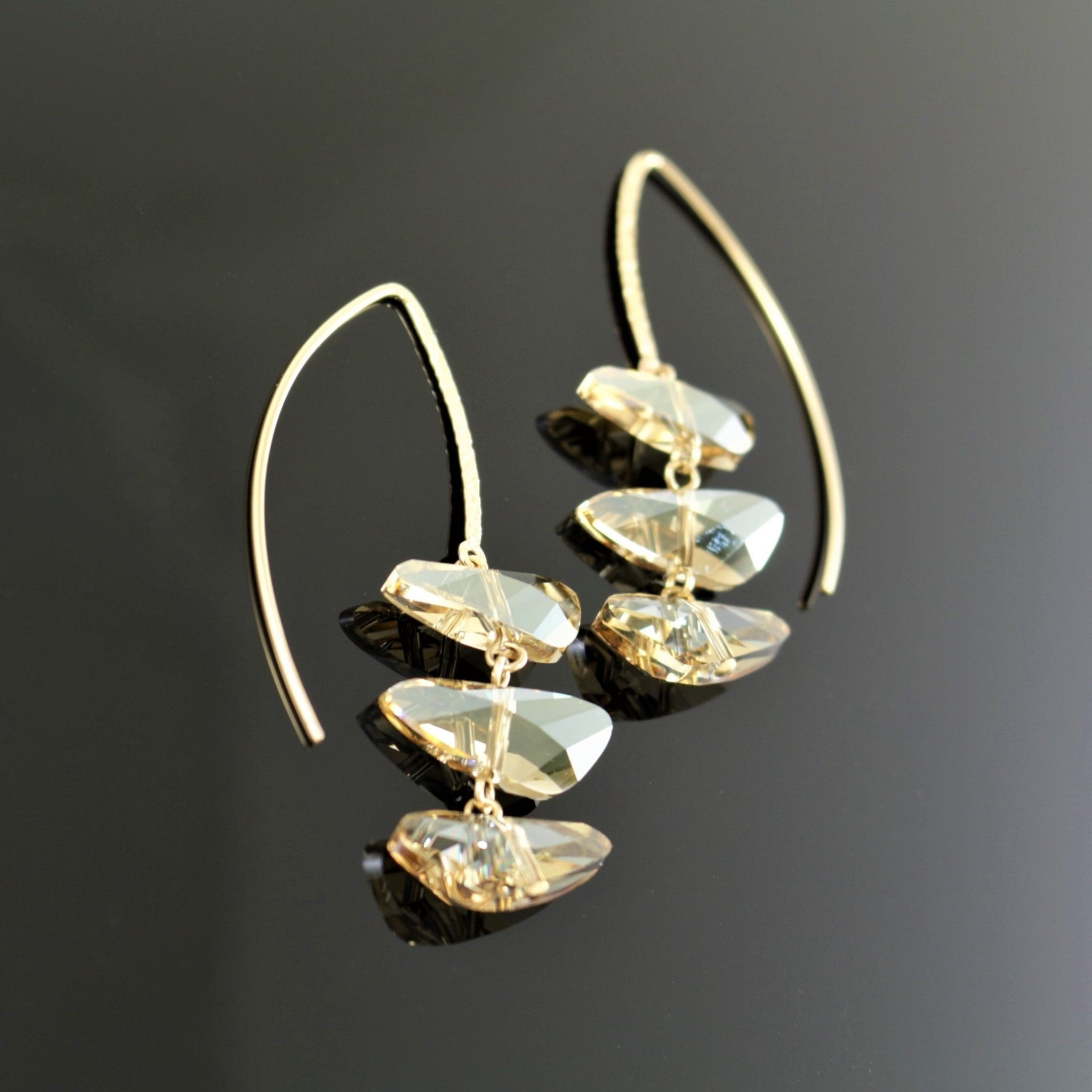 Reflections Earrings in Golden Shadow