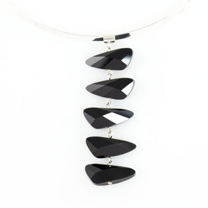 Reflections Necklace in Jet Black