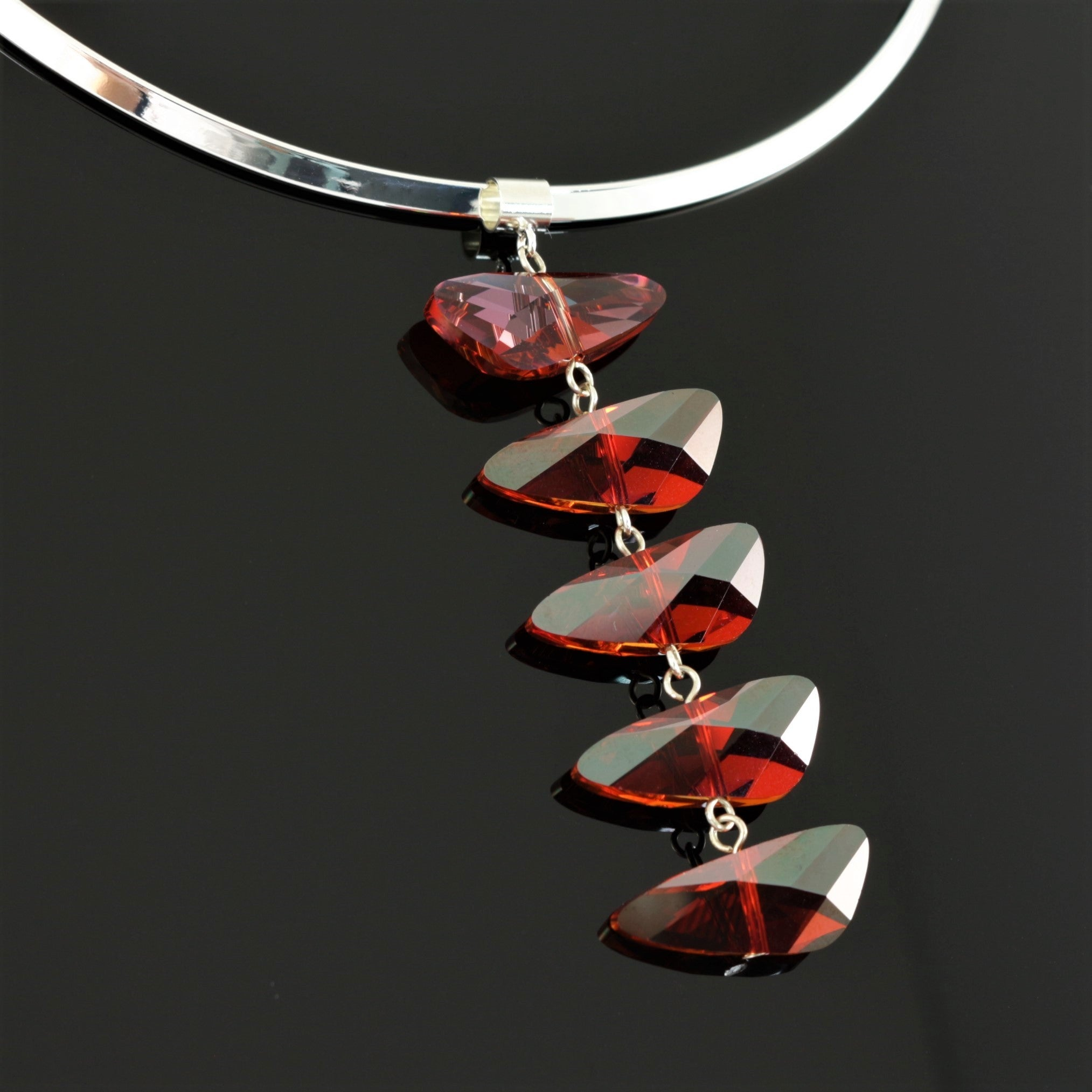 Reflections Necklace in Red Magma