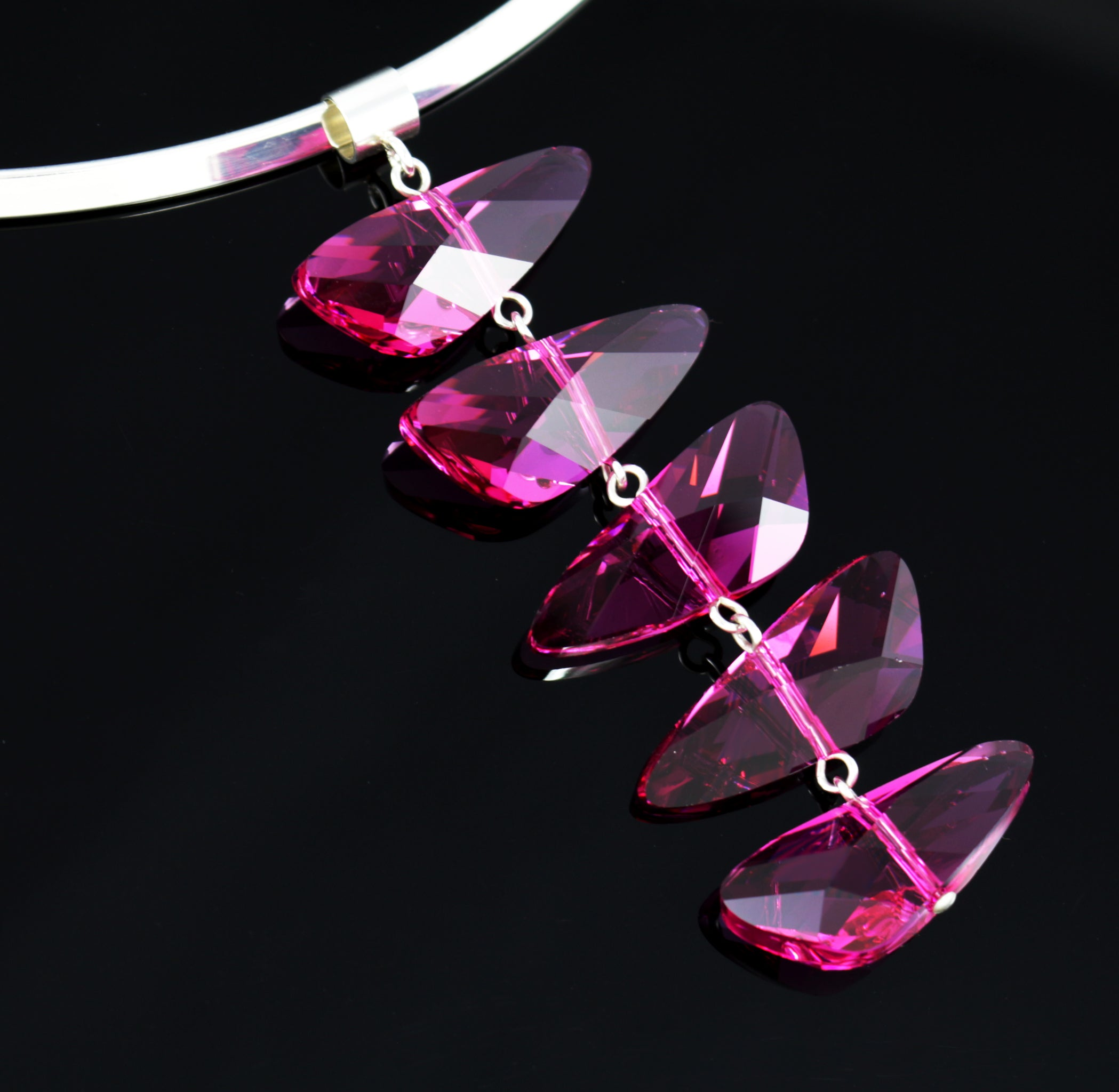 Reflections Necklace in Fuchsia