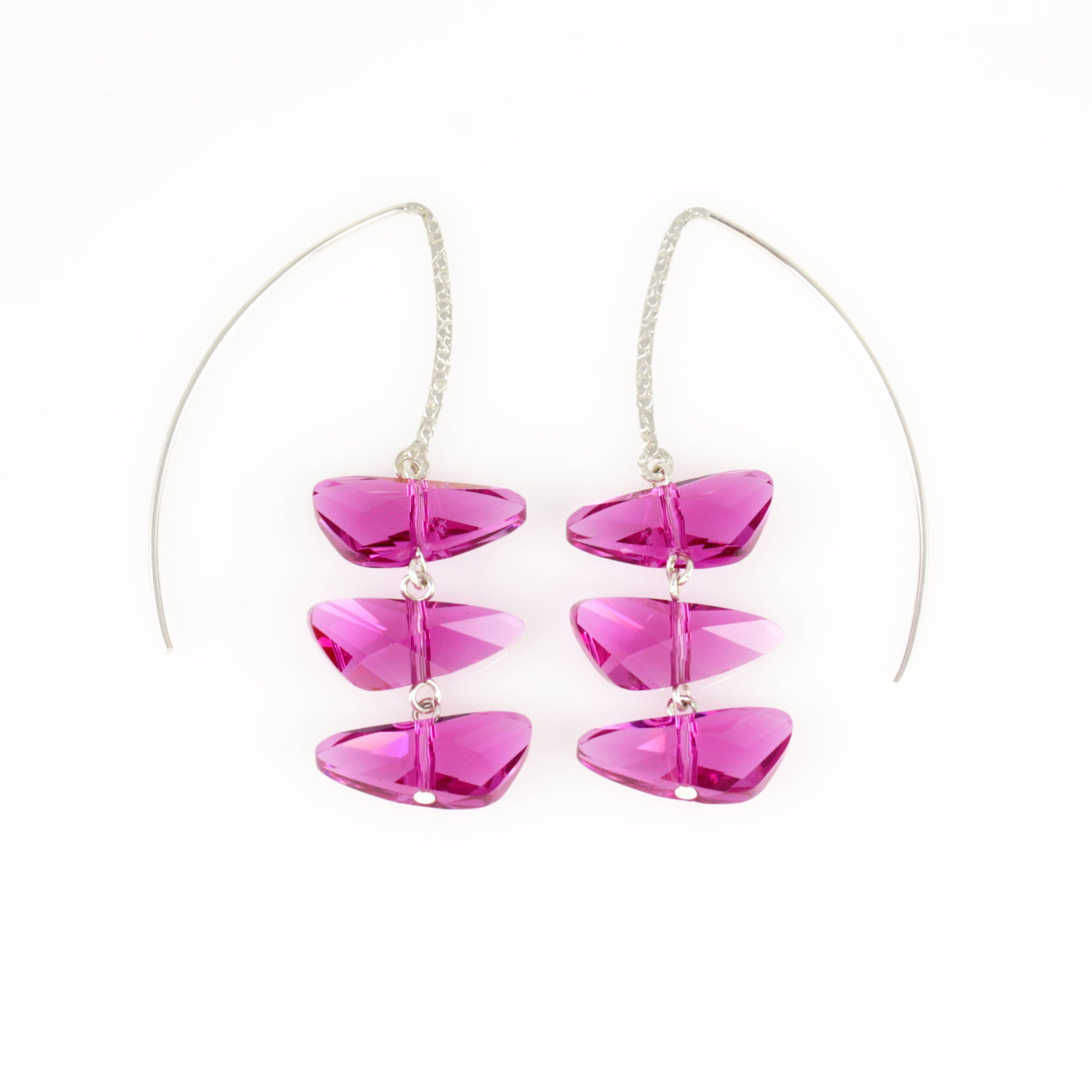 Reflections Earrings in Fuchsia