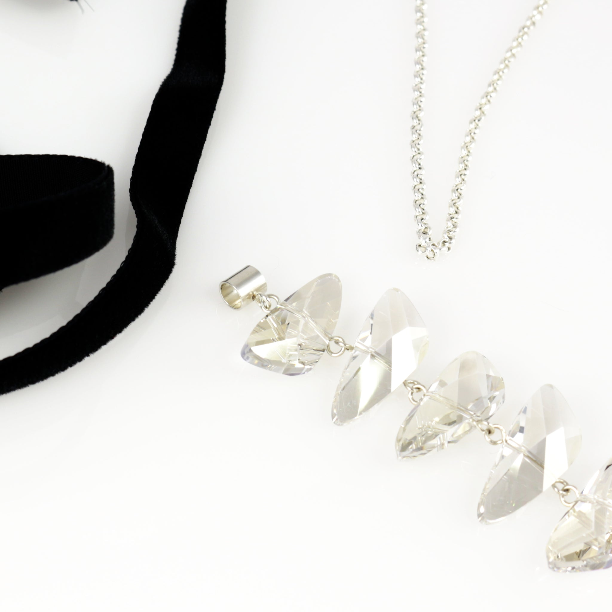 Reflections Necklace in Silver Shade