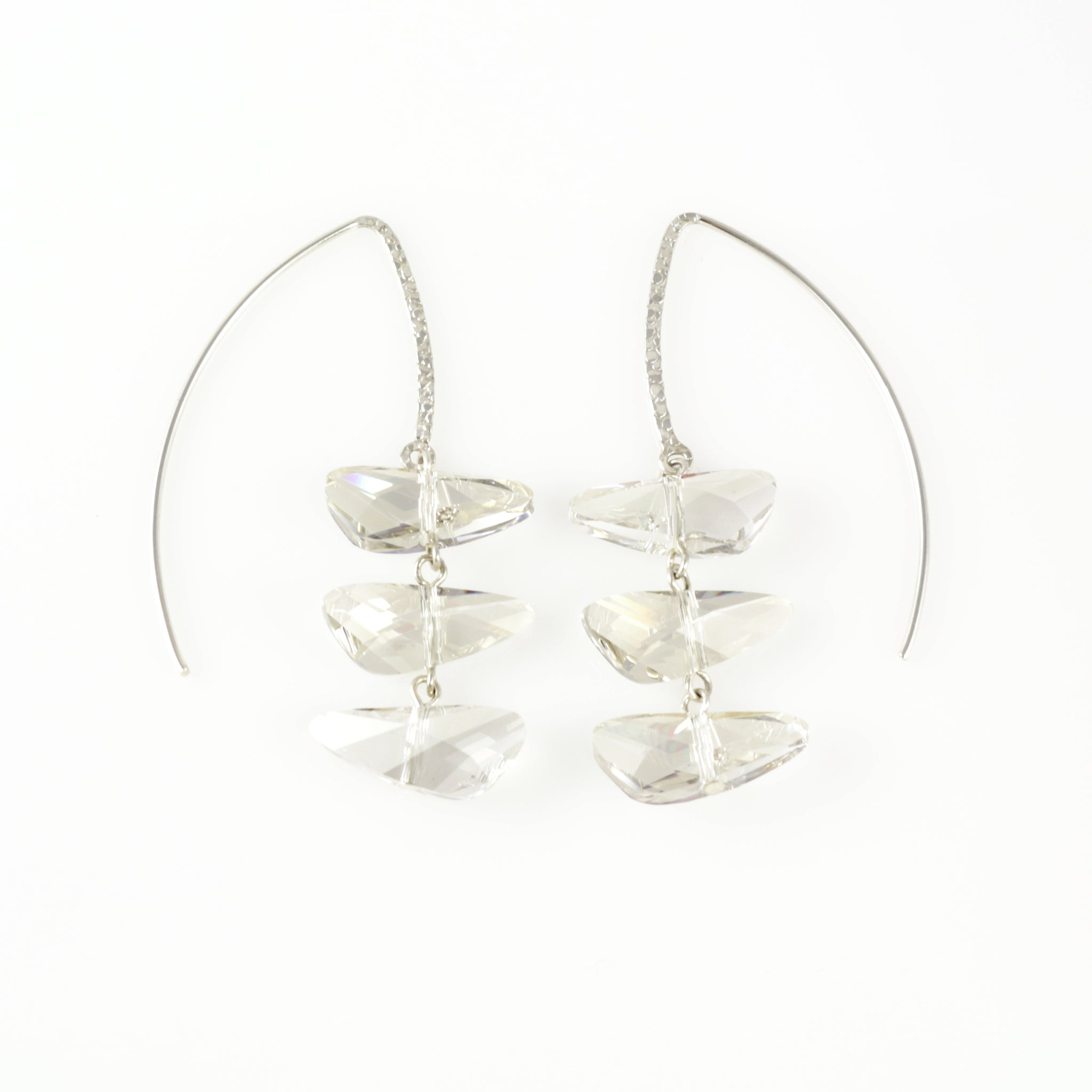 Reflections Earrings in Silver Shade