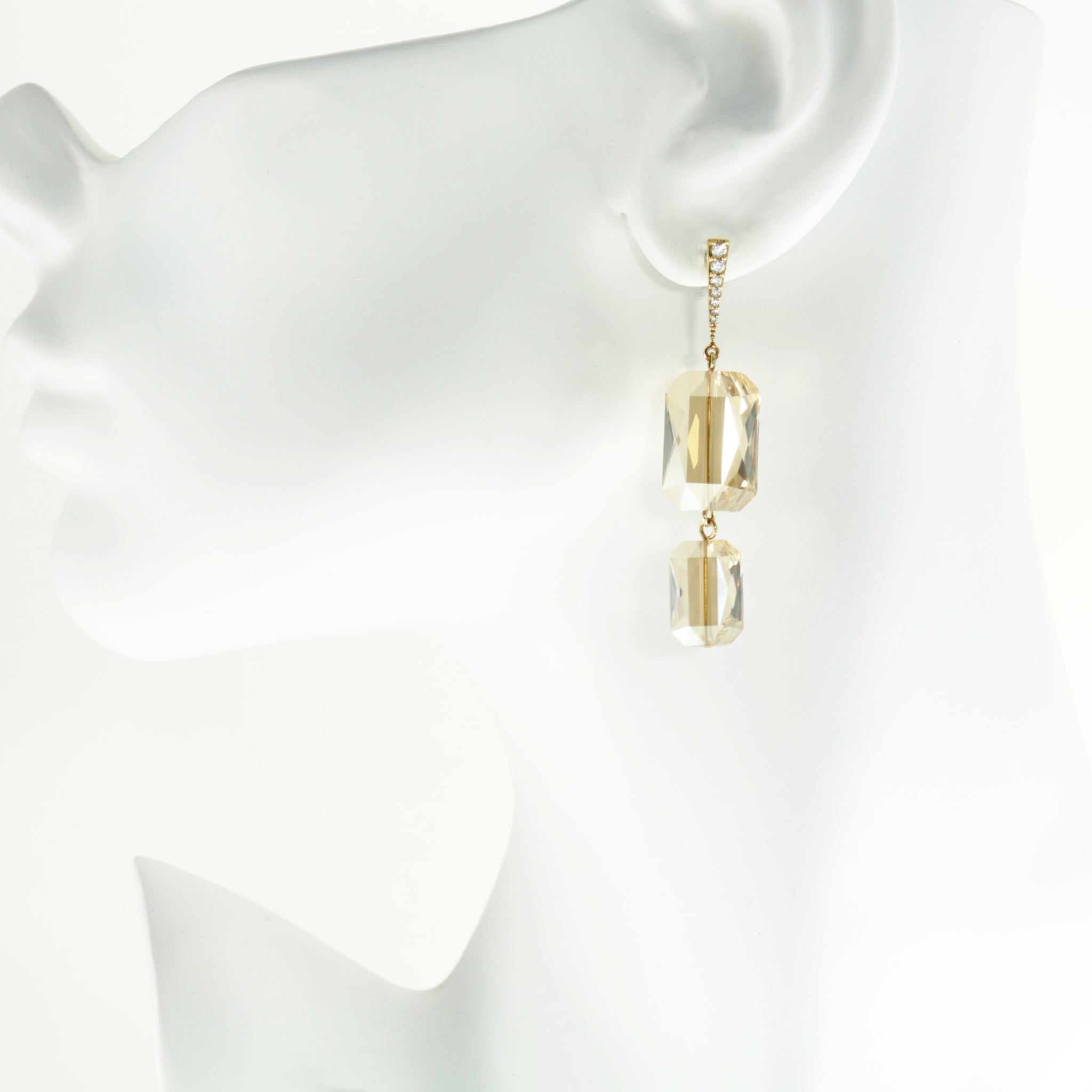Plaza Earrings in Golden Shadow