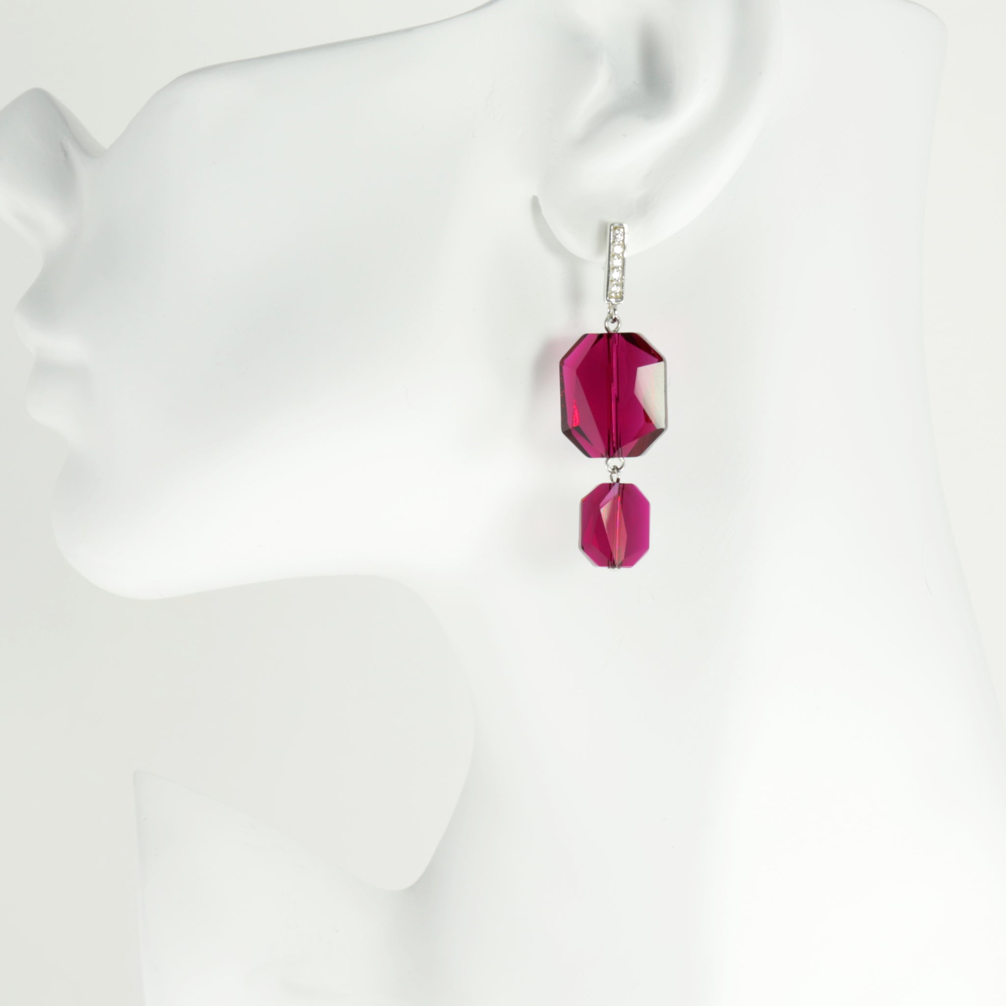 Plaza Earrings in Ruby