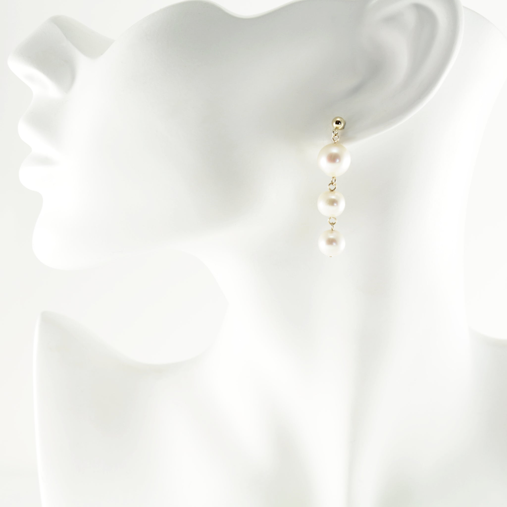Waterfall Earrings in Gold Short
