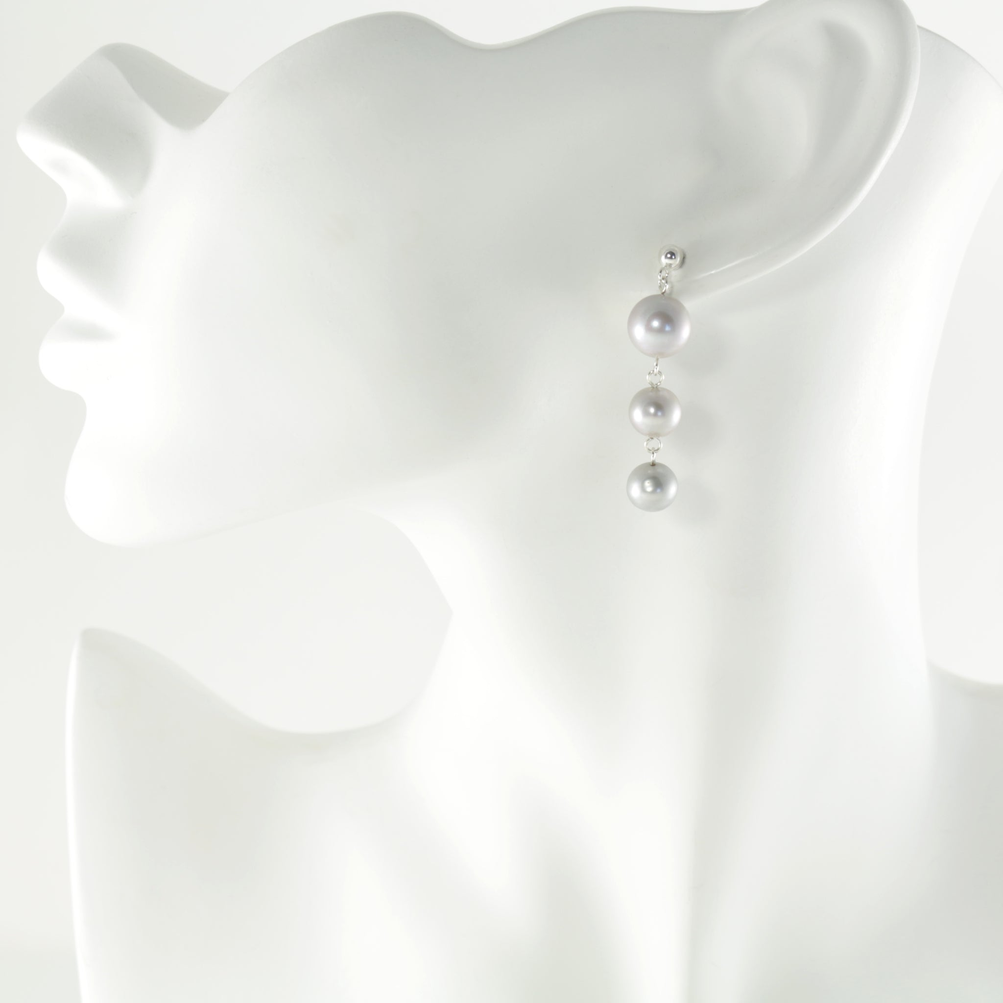 Waterfall Earrings in Silver Short
