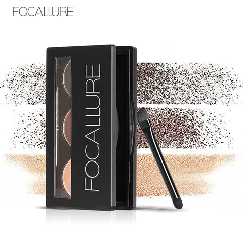FOCALLURE Mineral Eyebrow Powder Compacts - 3 Color Palette Choices
