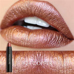 Focallure #24 Copper Waterproof Matte Metallic Lipstick Crayon