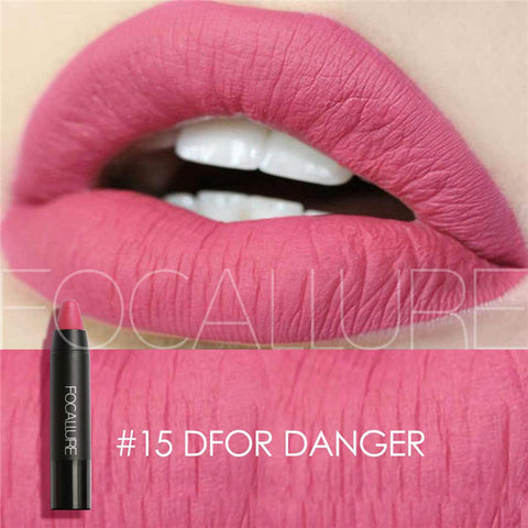 FOCALLURE #15 D For Danger Waterproof Matte Lipstick Crayon