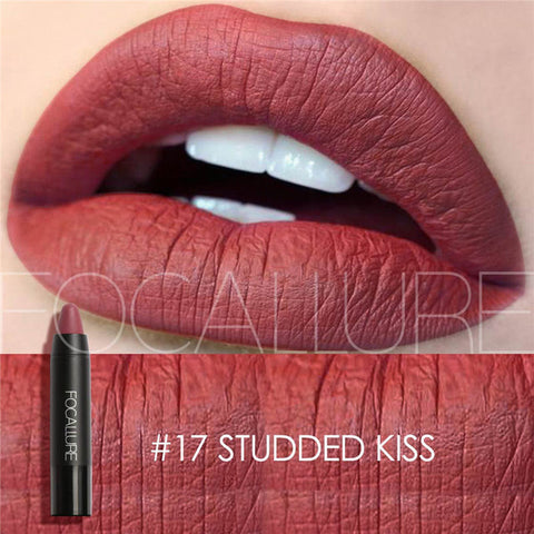 FOCALLURE #17 Studded Kiss Waterproof Matte Lipstick Crayon