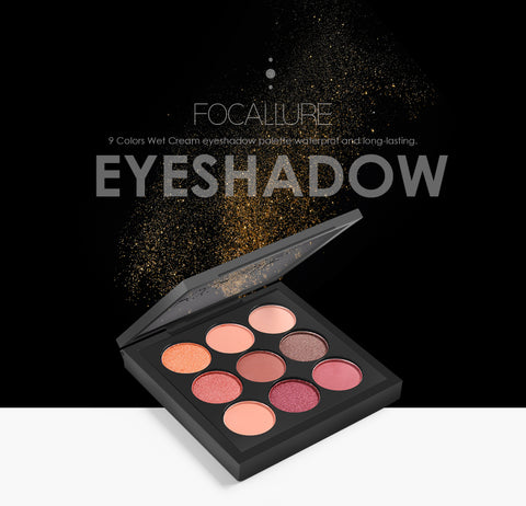 FOCALLURE 9 Matte & Shimmer Color Eyeshadow Palettes - 5 Palette Combinations