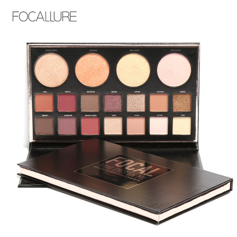 FOCALLURE Flash Shimmer Eyeshadow with Blush Highlighter Palette