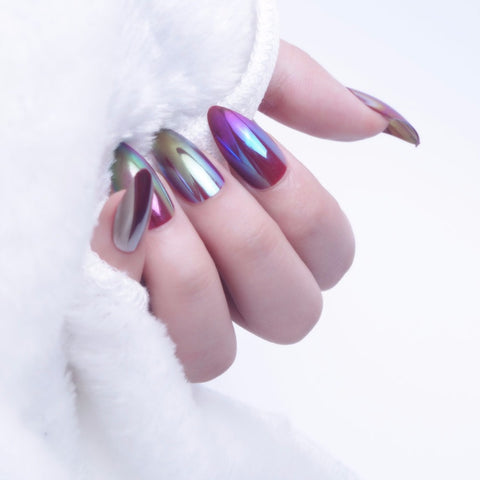 Oval Stiletto Press on Acrylic Nails - Set of 24 Nails