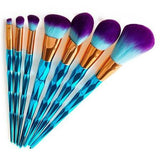 Blue Diamond Makeup Brushes Set