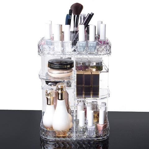 Crystal Rotating Adjustable Cosmetic Storage - It's Candy Darlings
