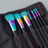 Black Rainbow Brush Set - 7 Piece Brush Set