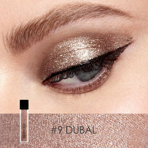 FOCALLURE #9 Dubal Waterproof Glitter Liquid Eye Shadow