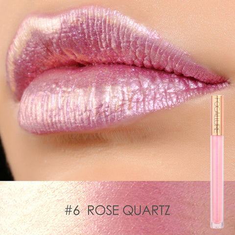 FOCALLURE #6 Rose Quartz Mineral Liquid Lipstick