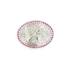 Youth Pink Barrel Racer Buckle