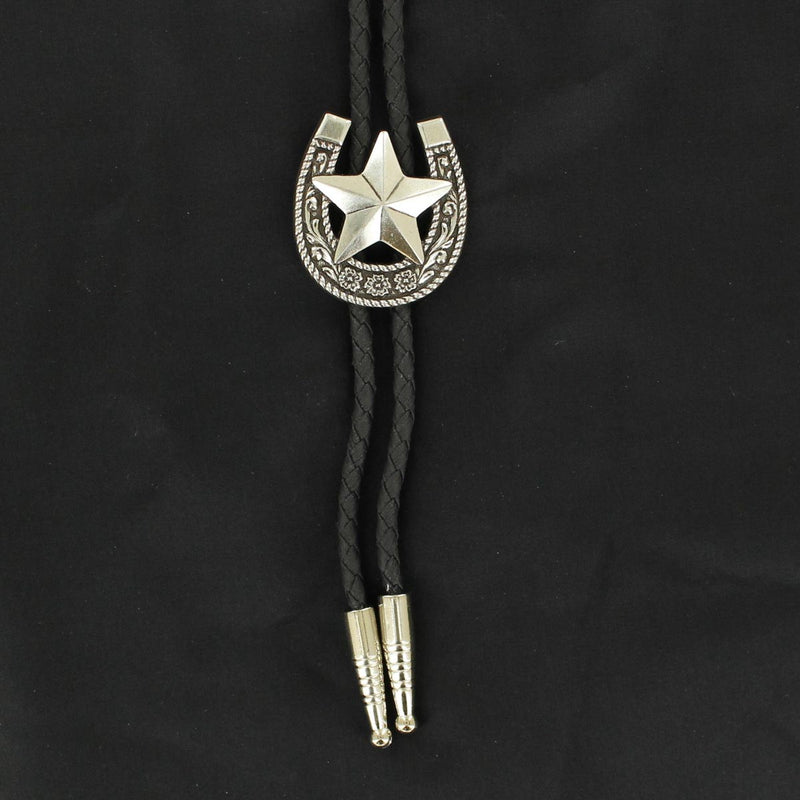 Horseshoe and Star Bolo Tie